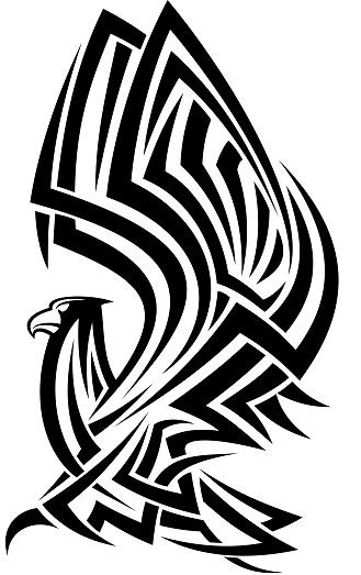 Tribal eagle tattoo