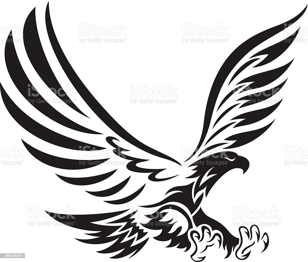 Tribal Eagle Stock Vector Art & More Images of Aggression ...