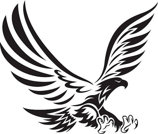Tribal eagle - ilustración de arte vectorial