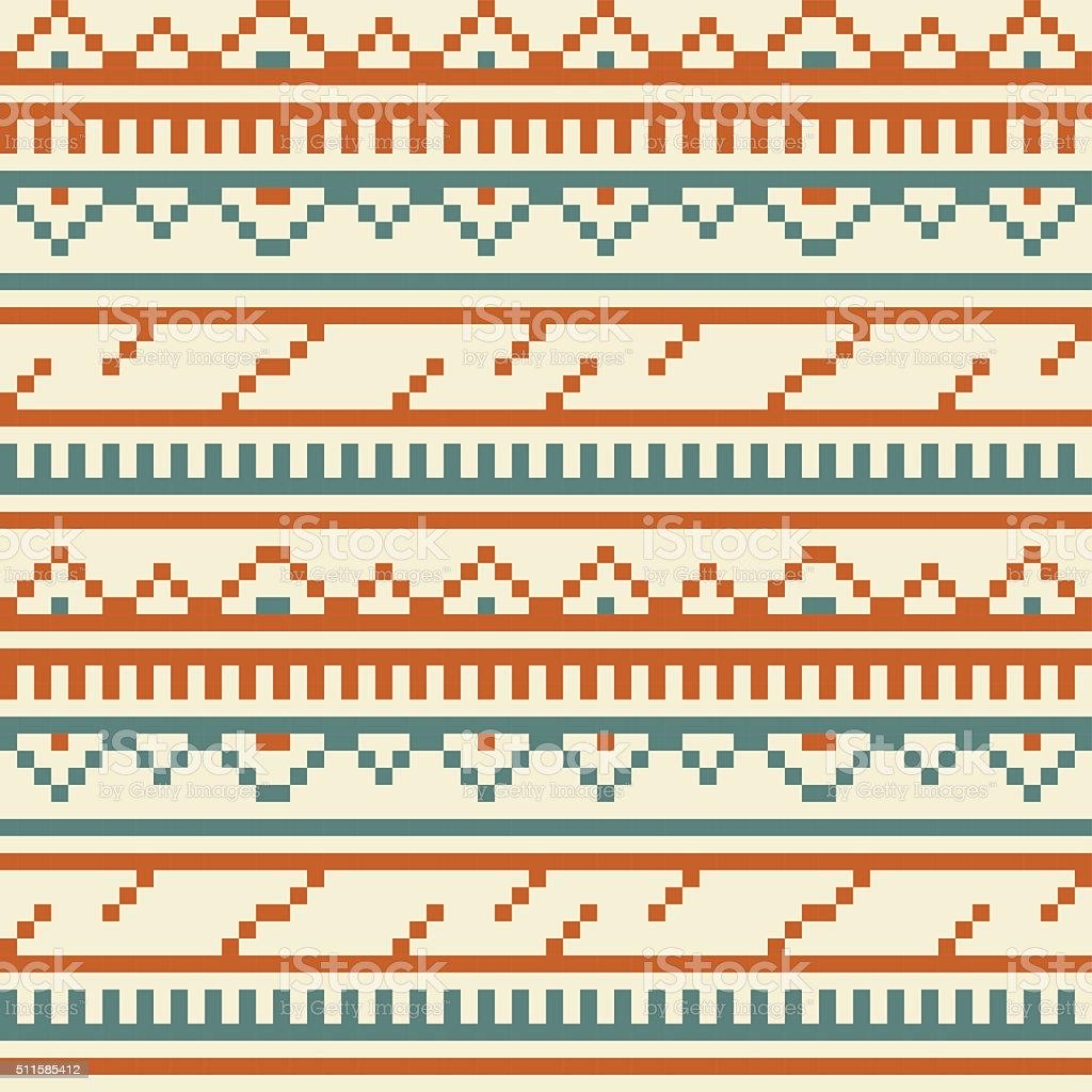 Tribal Embroidery Vintage Seamless Pattern vector art illustration
