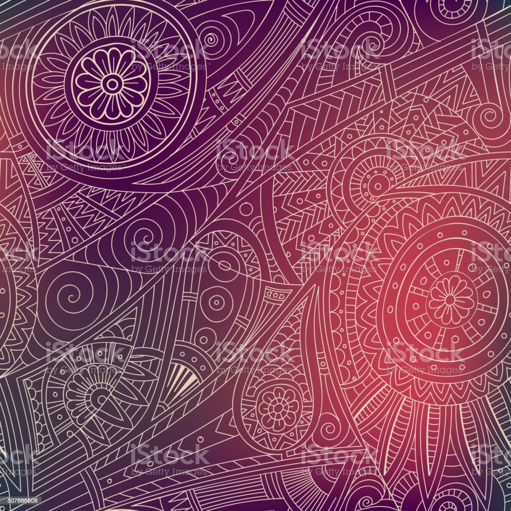 Tribal ethnic background. vector art illustration