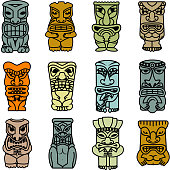 Tribal ethnic masks and totems