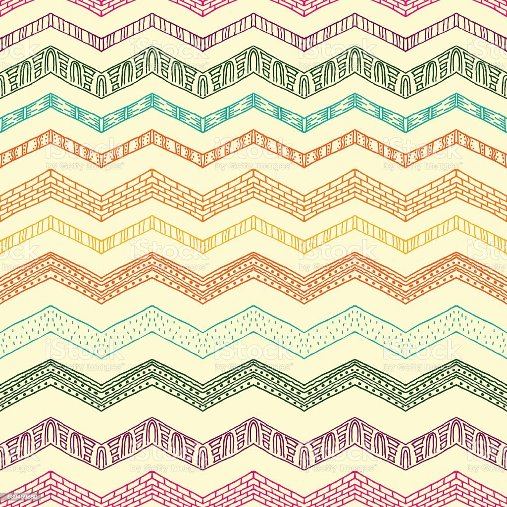 Tribal ethnic ornament seamless pattern. Colorful vector illustration. vector art illustration