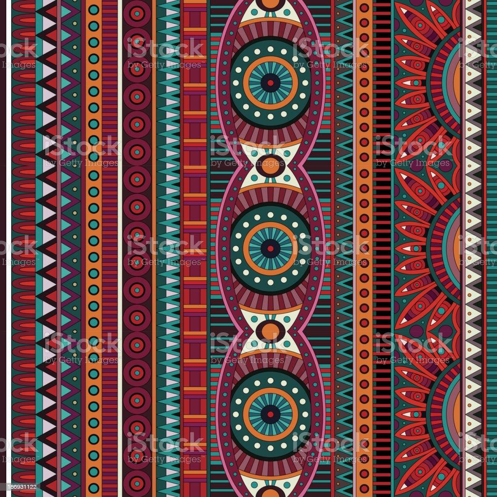 Tribal ethnic seamless pattern vector art illustration