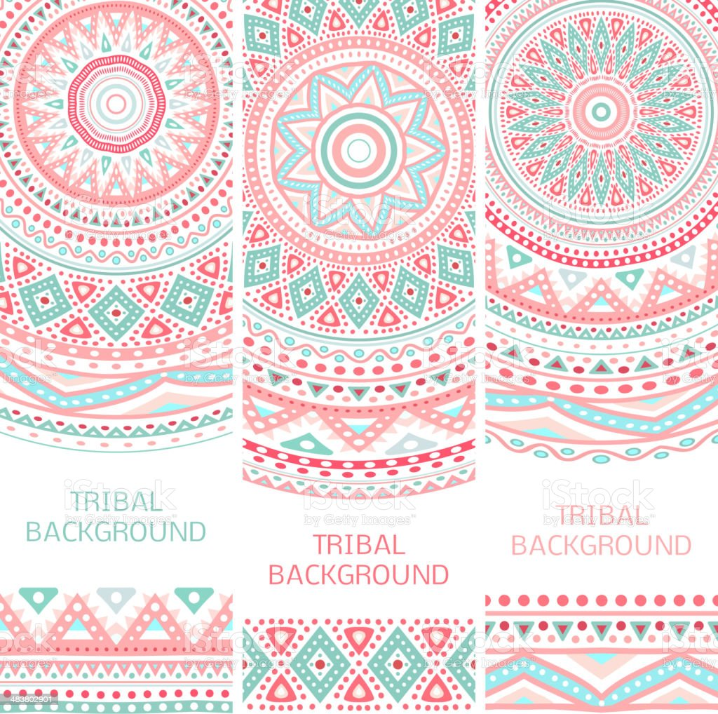 Tribal ethnic vintage banners vector art illustration