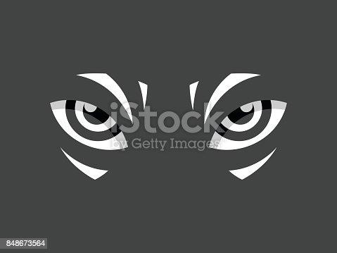 istock Tribal eye Logo Vector 848673564