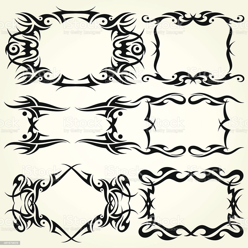 Tribal Frames royalty-free tribal frames stock vector art & more images of black color