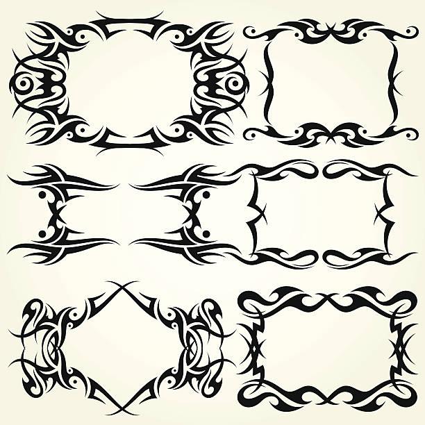 Tribal Frames vector art illustration