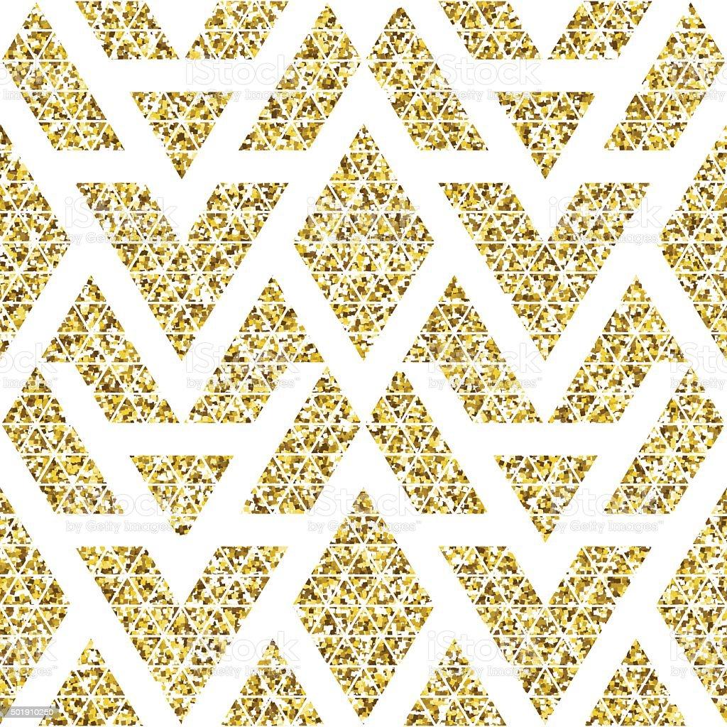 Ilustración de Oro Patrón Sin Costuras étnico Glitter y más banco de ...