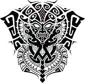 tribal god mask
