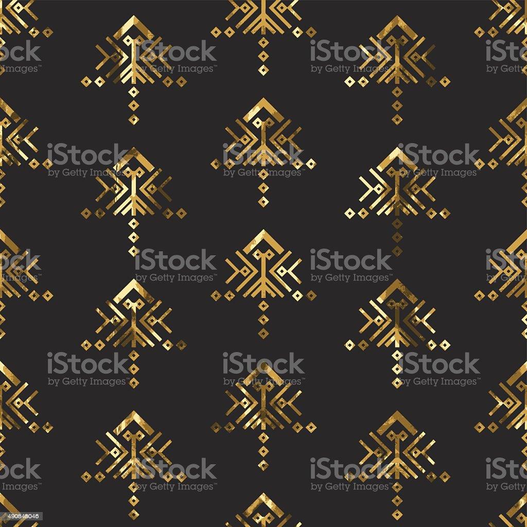 Tribal gold ornament.