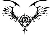 tribal gothic wings