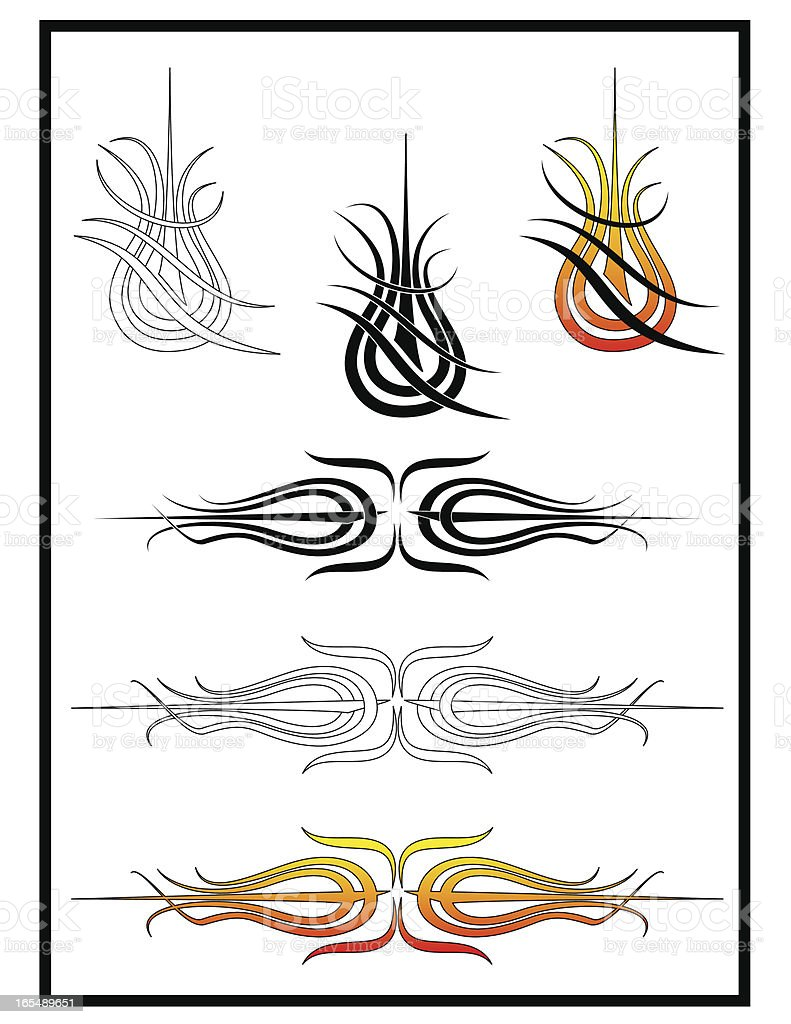 Tribal Graphics Flash Sheet II royalty-free stock vector art