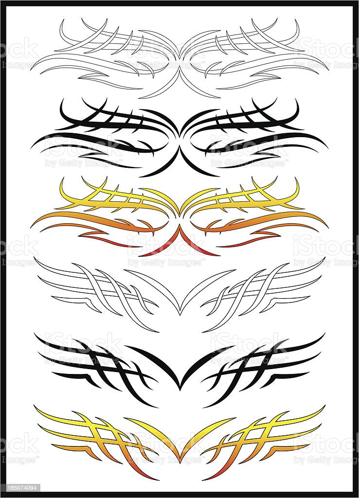 Tribal Graphics Flash Sheet royalty-free stock vector art