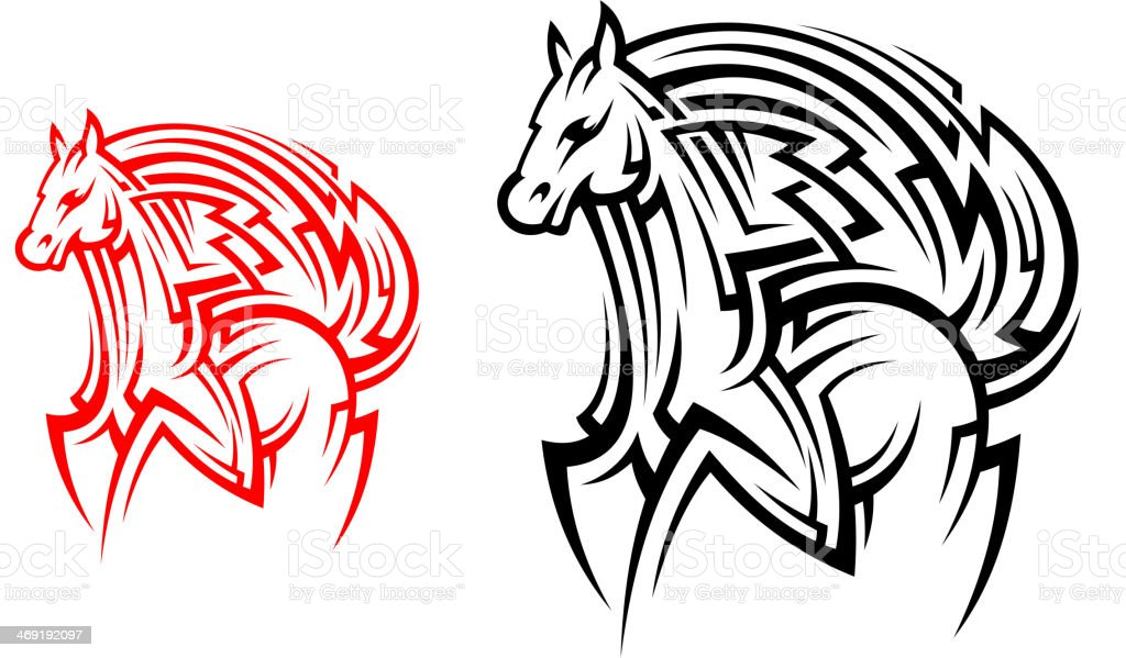 Tribal Horse Tattoo Stock Illustration Download Image Now Istock