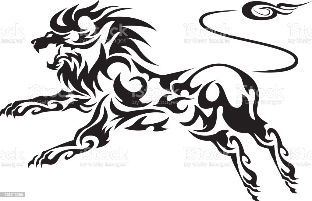 tribal lion llustration stock vector art amp more images of