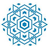 istock Tribal Mandala. Ornamental geo round element isolated 1303526655