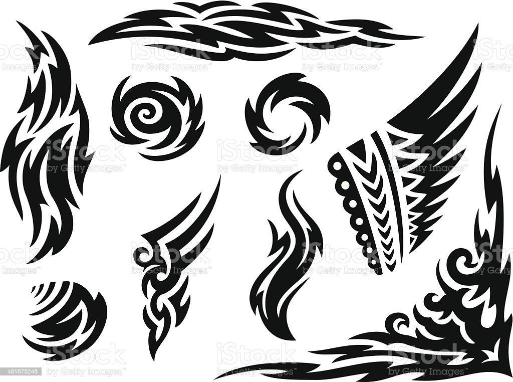 Tribal Markings vector art illustration