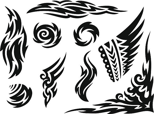 Tribal Markings vector art illustration