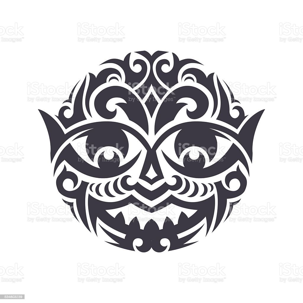 Tribal Mask vector art illustration