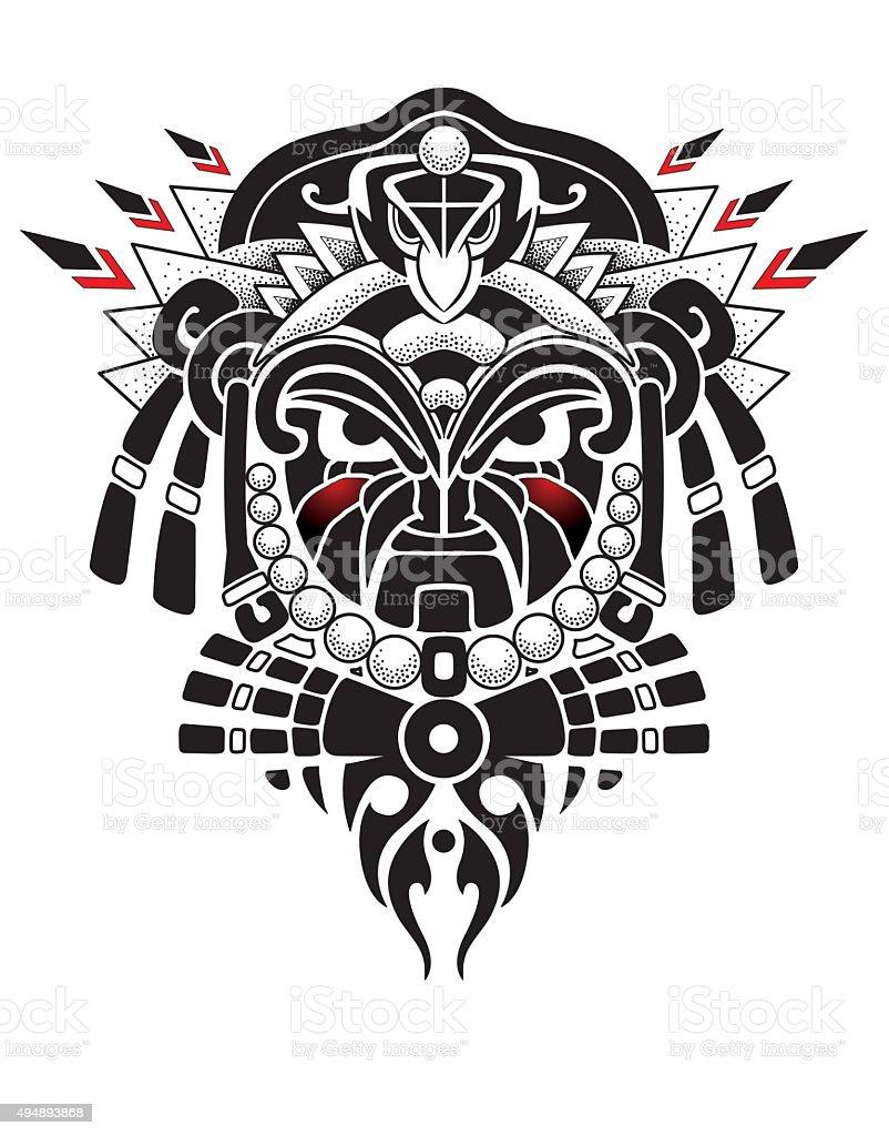 Tribal Mask vector illustration vector art illustration