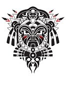 Tribal Mask vector illustration