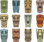Tribal masks of idols and demons