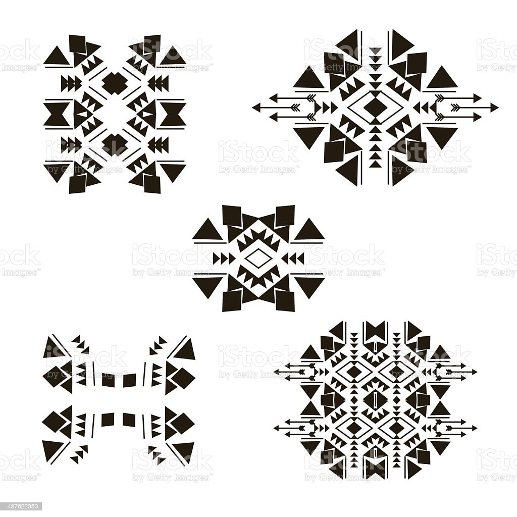tribalel ements collection vector art illustration