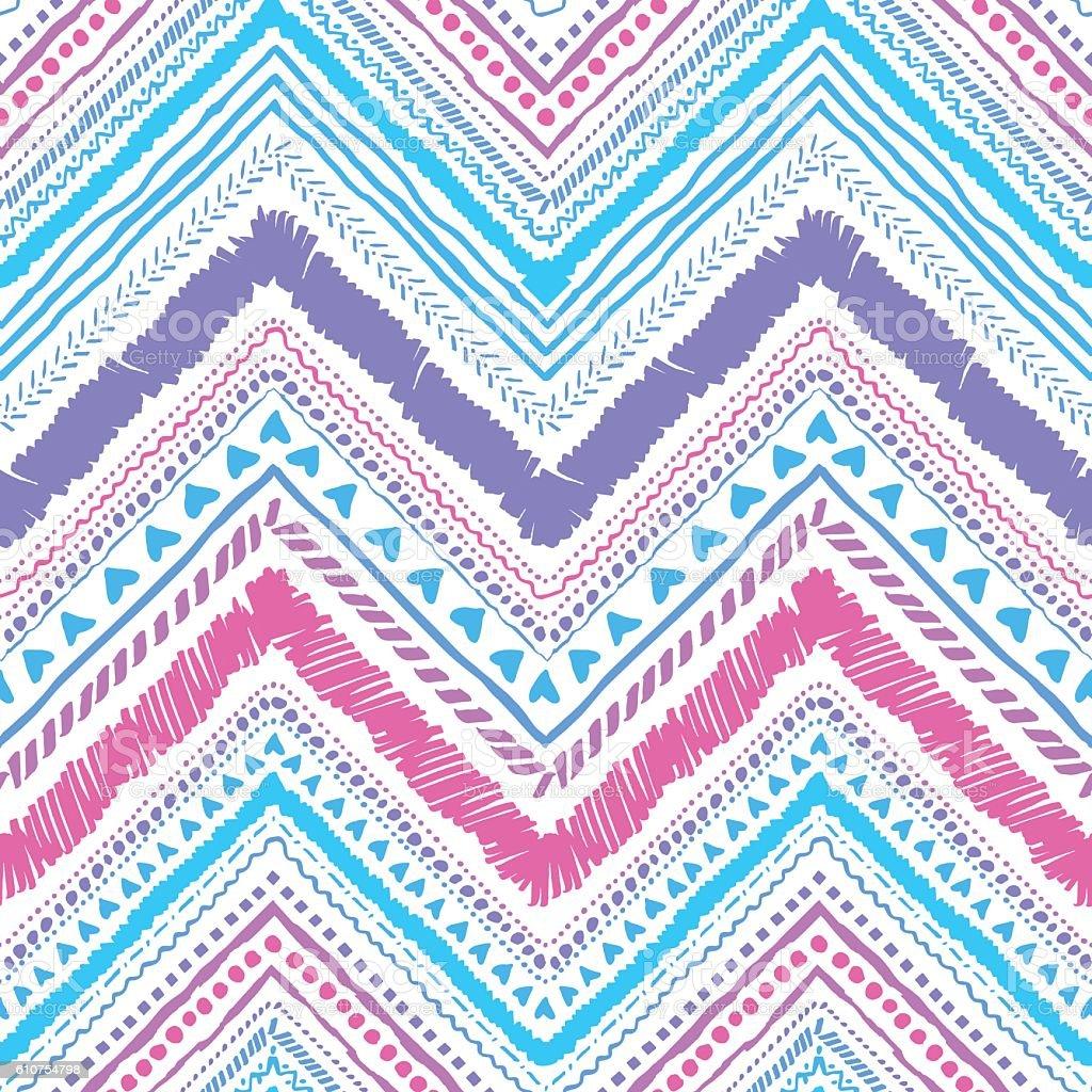 Tribal ornament zigzag illustraion vector art illustration
