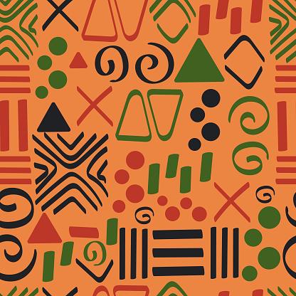 tribal ornaments seamless pattern