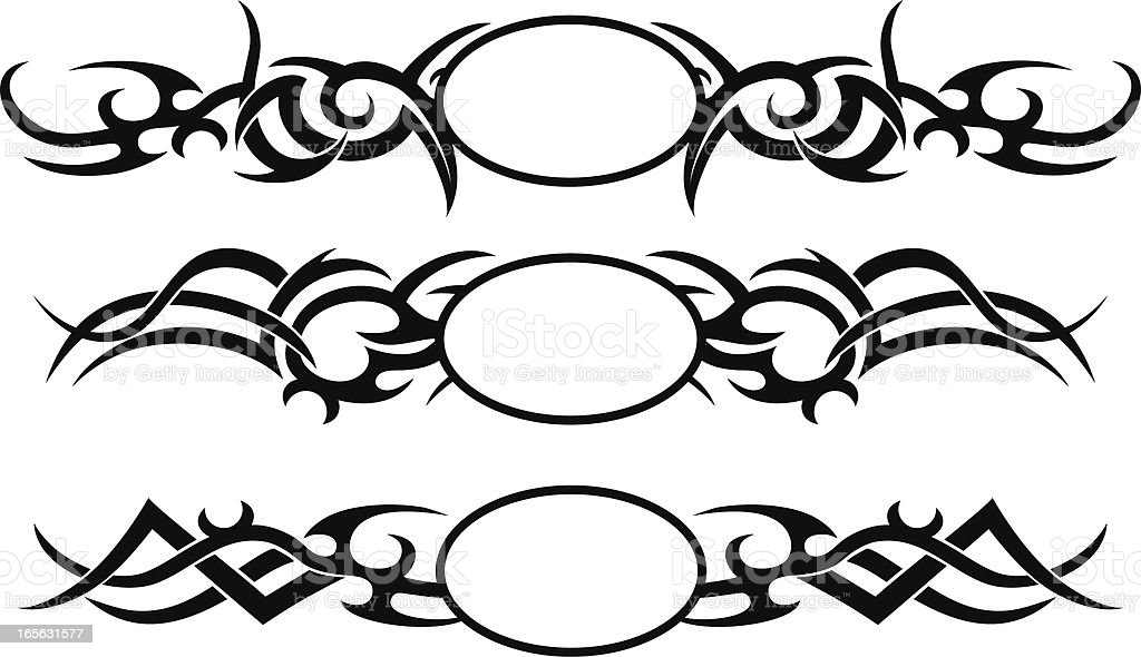 Tribal Oval Crest royalty-free stock vector art