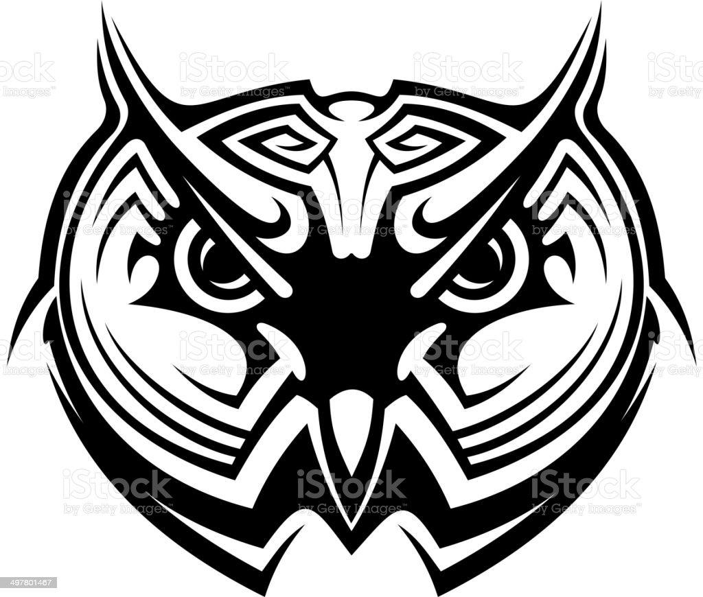 Sowa Tribal Tatuaż Stockowe Grafiki Wektorowe I Więcej