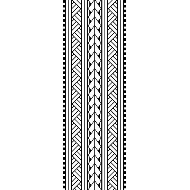 Tribal pattern polynesian, maori black pattern tattoo tribal lace sketch, ribbon, border template design,  tattoo arm maori tribal ornament elements vector isolated Tribal pattern polynesian, maori black pattern tattoo tribal lace sketch, ribbon, border template design,  tattoo arm maori tribal ornament elements vector isolated hawaiian culture stock illustrations