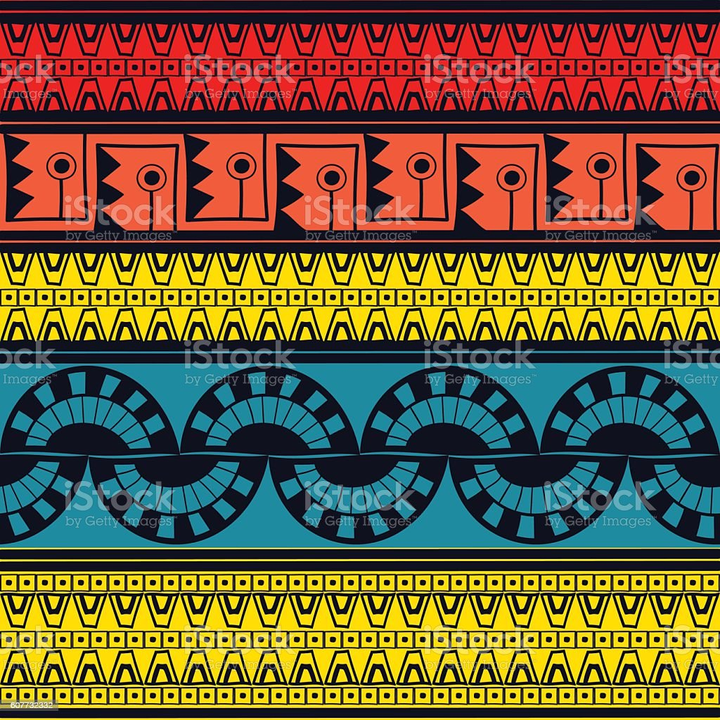 Tribal pattern seamless vector. Ethnic peruvian pattern design vector art illustration