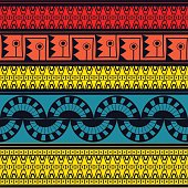 Tribal pattern seamless vector. Ethnic peruvian pattern design
