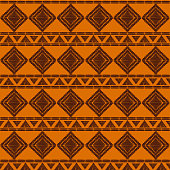 Tribal pattern vector seamless. African or native American print. Background for ethnic fabric, wallpaper, wrapping paper and boho card template.