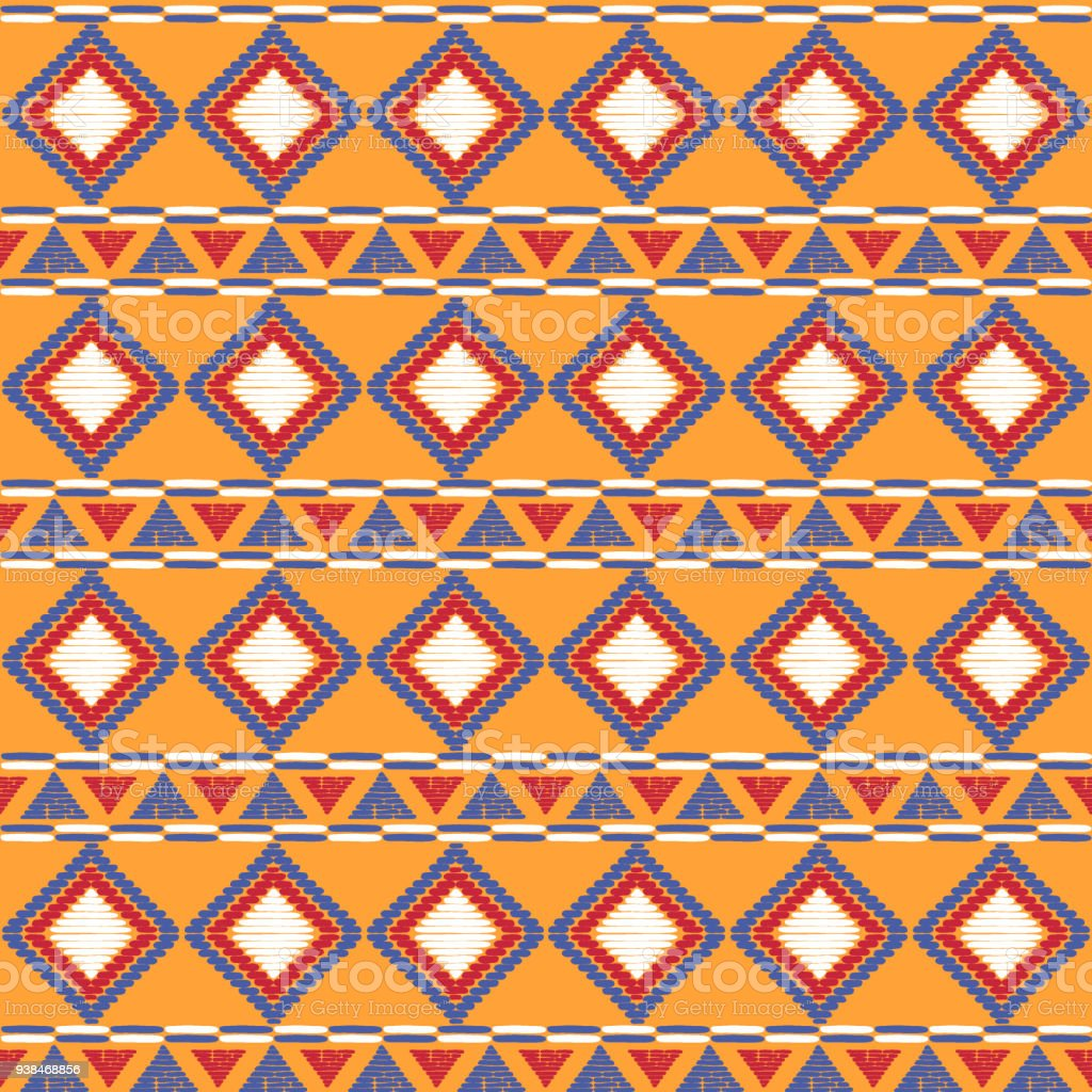 Tribal Pattern Vector Seamless African Print Basket Background For Ethnic Fabric Wallpaper