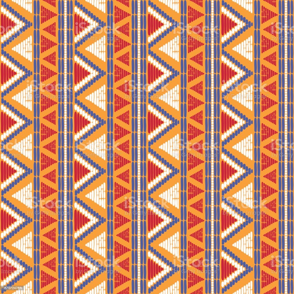 Tribal pattern vector seamless vector art illustration