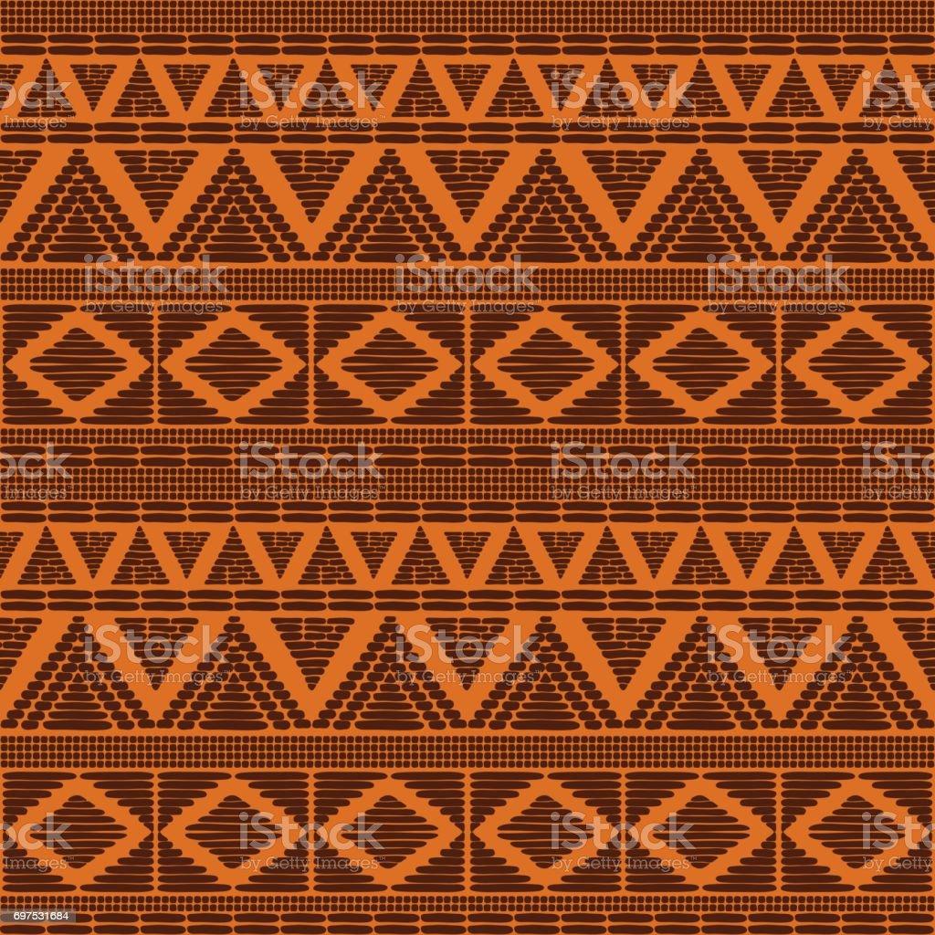 Tribal patroon vector naadloze - Royalty-free Afrika vectorkunst