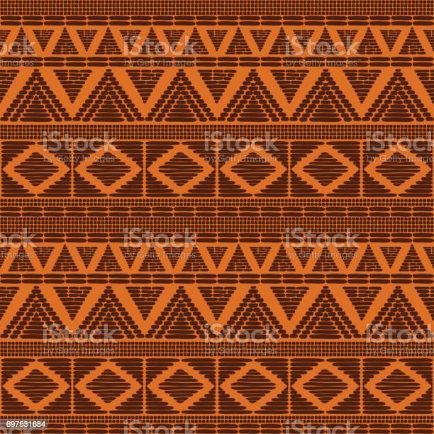Tribal Patroon Vector Naadloze Stockvectorkunst en meer beelden van Afrika
