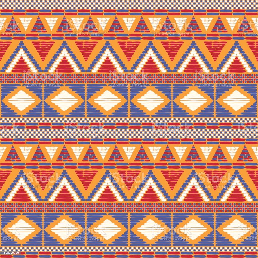 Tribal pattern vector seamless vector art illustration