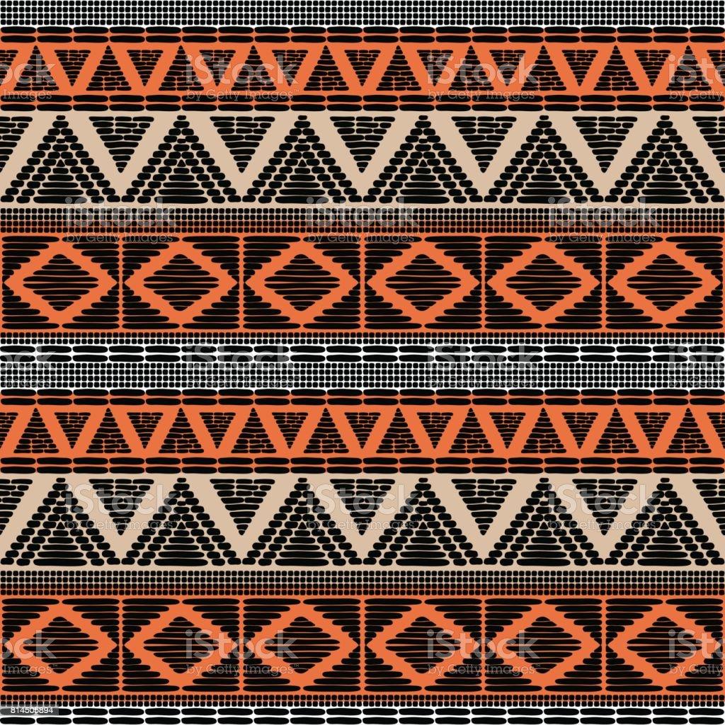 Padrão tribal vector sem emenda - ilustração de arte em vetor
