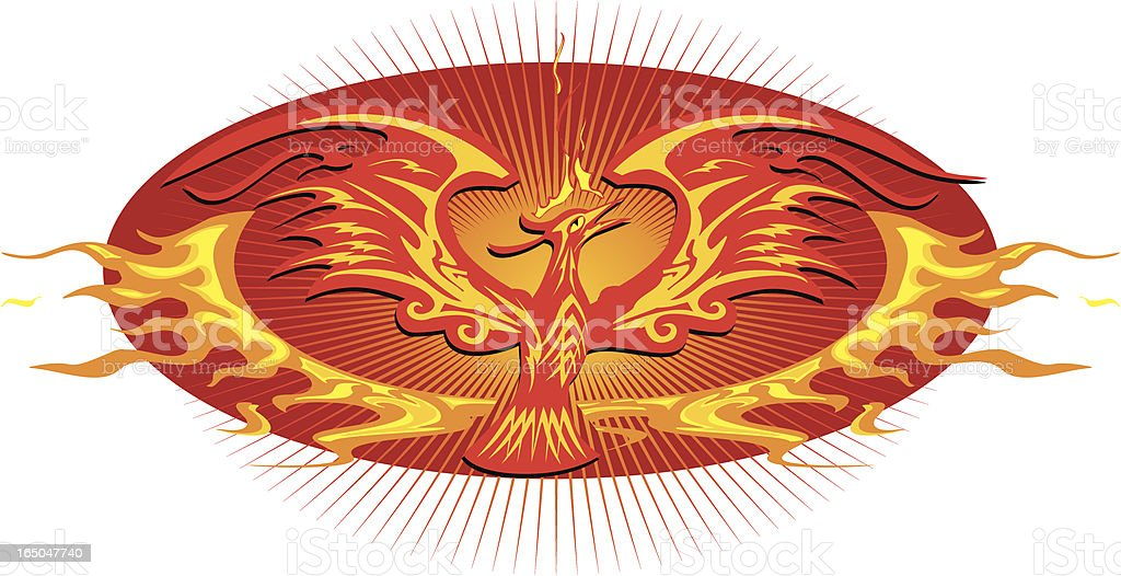 tribal phoenix emblem royalty-free stock vector art