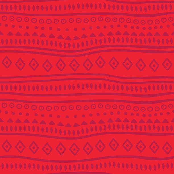 Tribal red vector pattern Tribal red vector pattern indigenous culture stock illustrations