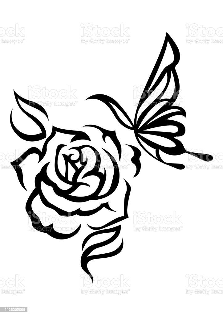 Vetores De Rosa Tribal Ilustracao De Rosa Artefinal Etnica