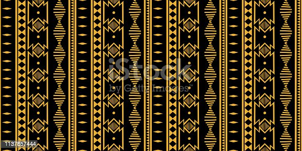 Tribal seamless pattern. African print decorative traditional vintage. Colorful abstract background. Hand drawn vector illustration trendy women fashion textile ready for print and wrapping.