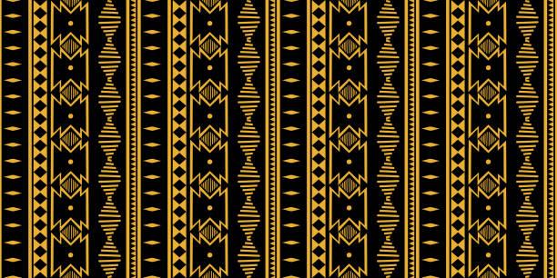 部落無縫模式。非洲印花裝飾傳統復古。五顏六色的抽象背景。手繪向量插圖時尚女裝時尚紡織品準備列印和包裝。 - africa 幅插畫檔、美工圖案、卡通及圖標