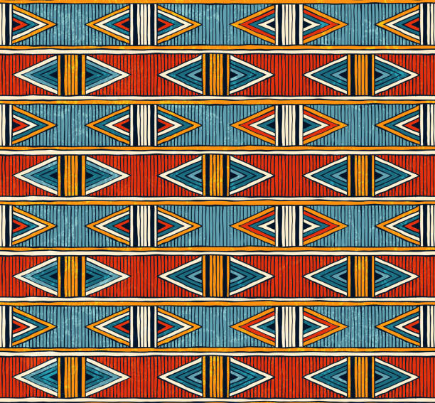 tribal seamless pattern. colorful abstract vector background. - africa 幅插畫檔、美工圖案、卡通及圖標