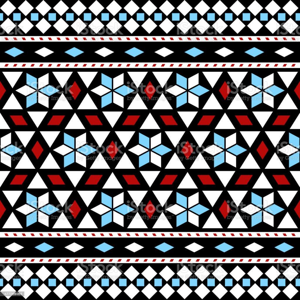 Patrón sin costuras étnico.   Vector fondo étnico - ilustración de arte vectorial