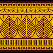 Tribal Seamless Pattern. Ethnic Vector Background. Arabic or African Style
